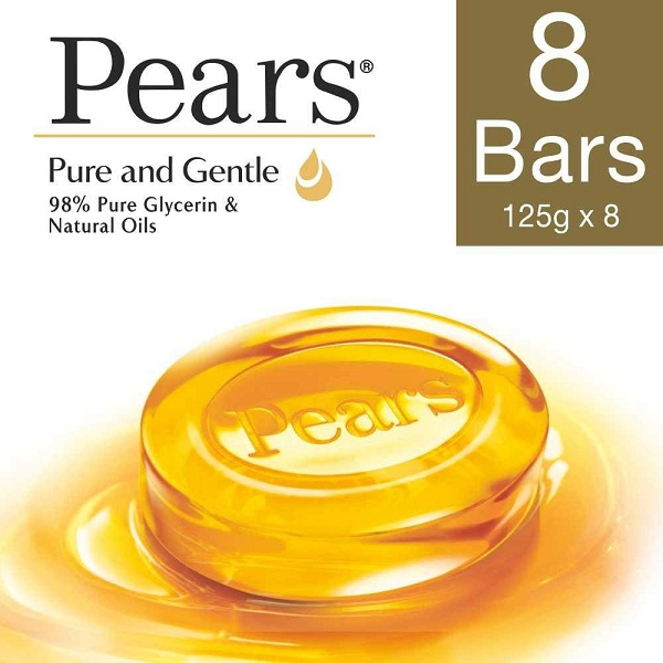 Pears Pure And Gentle Bathing Bar 125g Pack Of 8