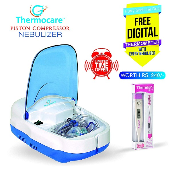 Thermocare Gio Life Piston Compressure Nebulizer with Complete Kit
