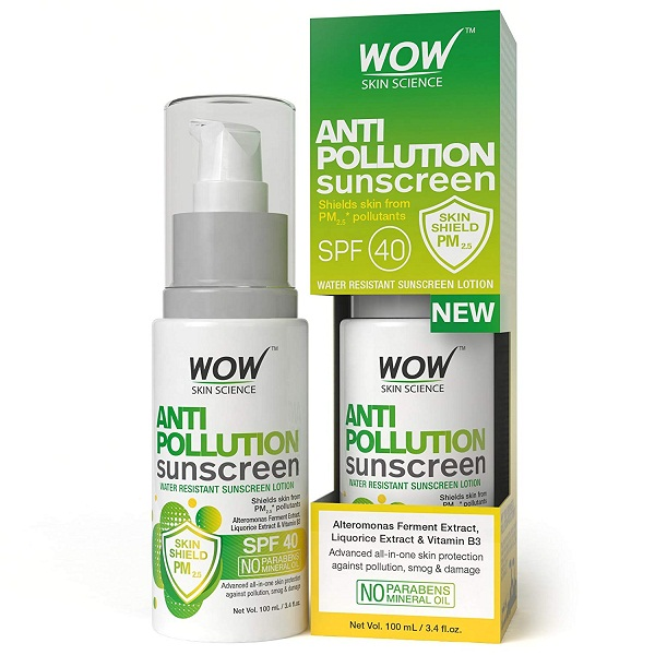 WOW Anti Pollution SPF 40 Water Resistant Oil Sunscreen