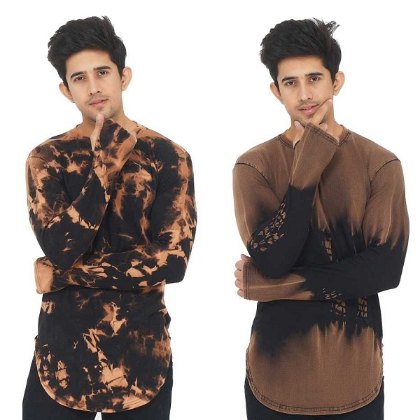 Mens Round Neck Brown T Shirt Pack of 2
