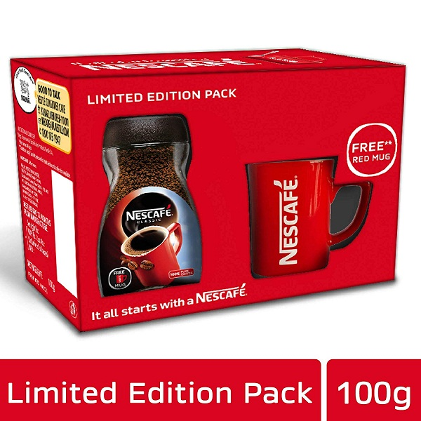 Nescafe Classic Coffee 100g with Free Red Mug