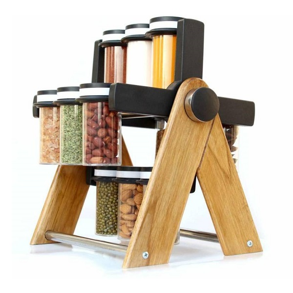 Roseleaf New Revolving Wheel Spice Rack