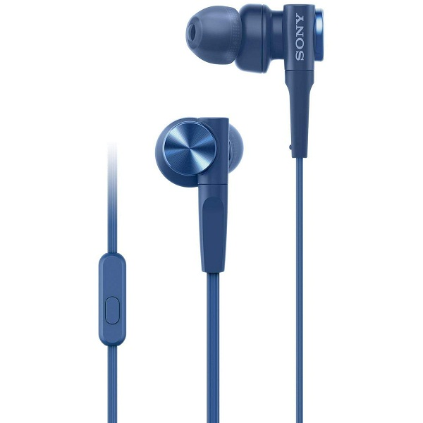 Sony MDR XB55AP Blue Headphones with Mic