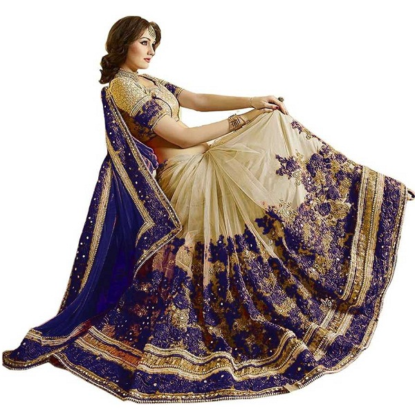 Nivah Fashion Self Design Bollywood Net Saree