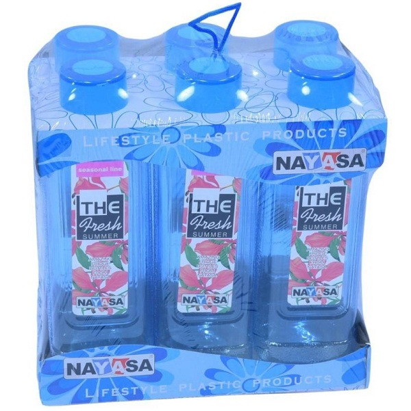 Nayasa WATER BOTTLE PACK OF 6 1000 Bottle