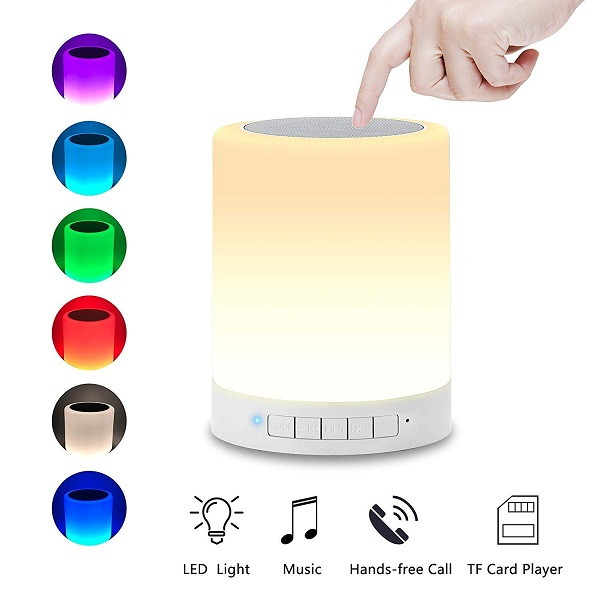 DEVCOOL LED Touch Lamp Bluetooth Speaker