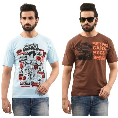 TSG Escape Printed Mens Round Neck T Shirt Pack Of 2