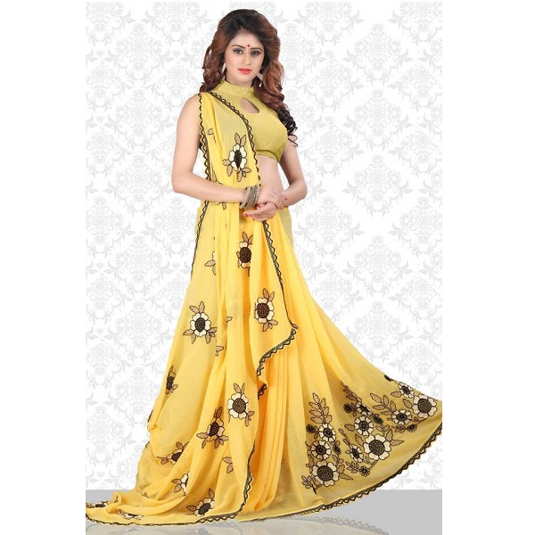 Divastri  Embroidered Fashion Chiffon Saree