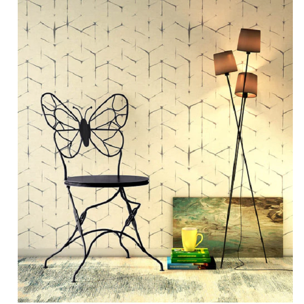 Obuasi Metal Chair in Black Colour by Bohemiana