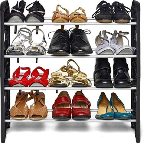 Pureus Foldable Shoe Rack with 4 Shelves