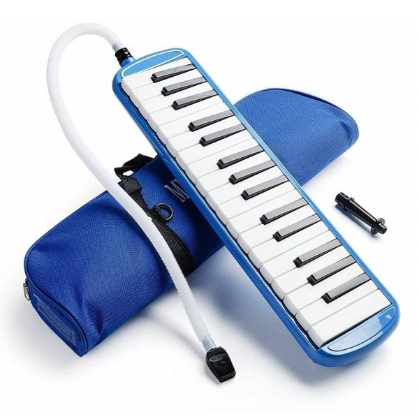 Techtest Blue 32 Key Melodica Piano Harmonica With Carrying Bag