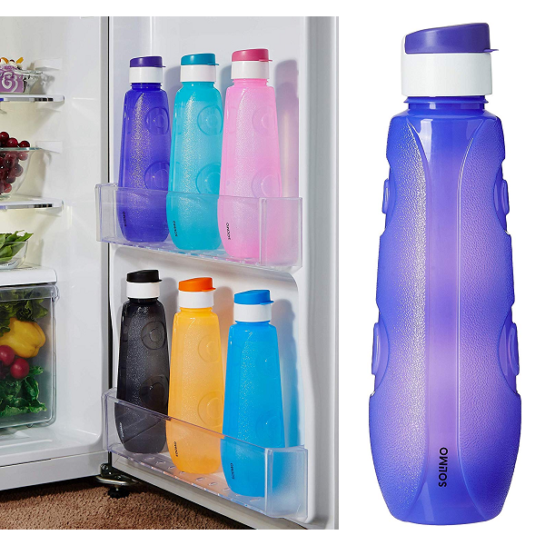 Solimo Plastic Water Bottles Set of 6 1L