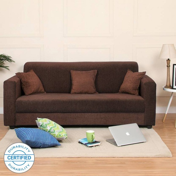 Flipkart Perfect Homes Bergen Fabric 3 Seater Sofa