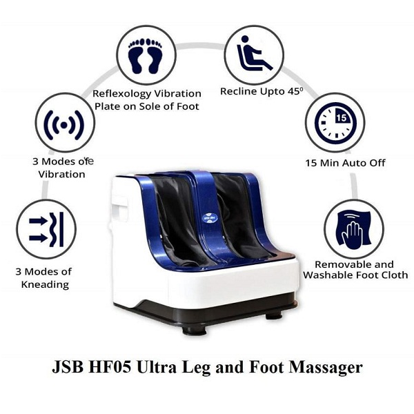JSB HF05 ULTRA Leg and Foot Massager Machine for Pain Relief