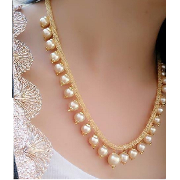 Darshini Designs Traditional Gold Plated Necklaces Set