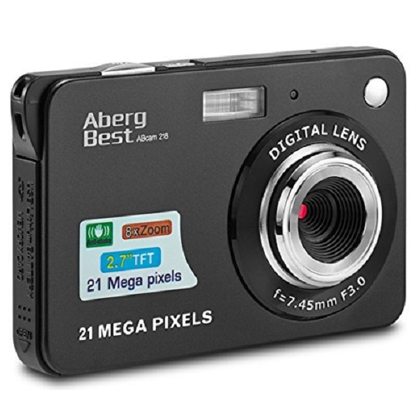 AbergBest 21 Mega Pixels Rechargeable HD Digital Camera