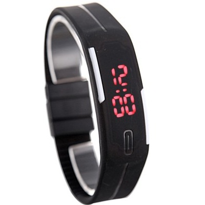Hala Rubber Magnet Led Sport Digital Watch For Boys, Men, Girls