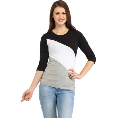 Cation Casual Sleeve Solid Womens Top