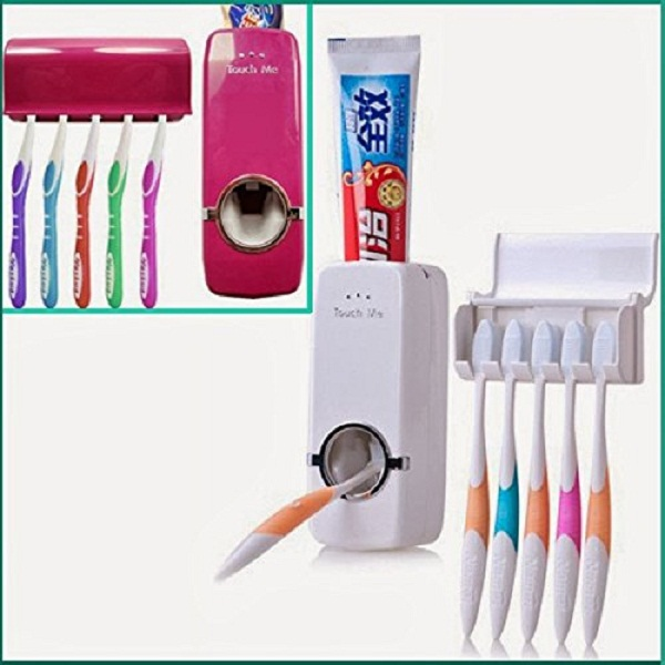Toothpaste Dispenser Toothbrush-Holder