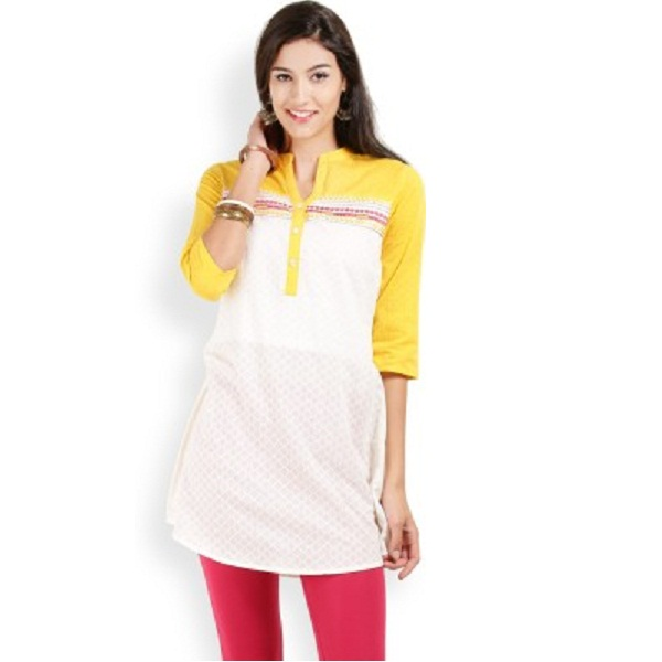 Max Self Design Womens Aline Kurta
