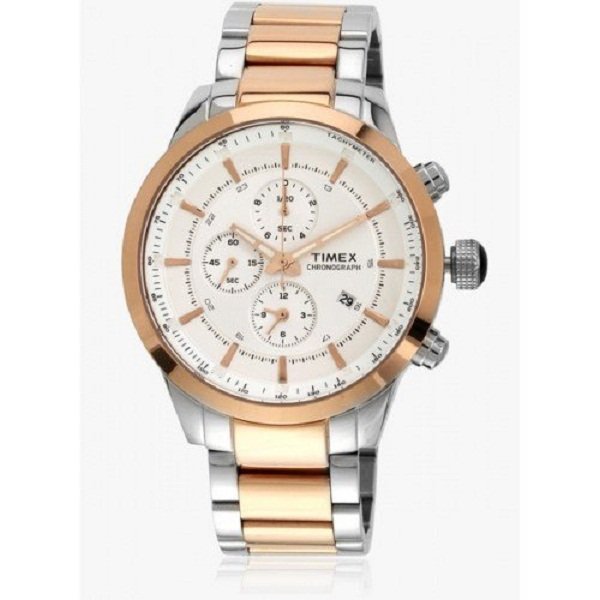 Timex Chronograph Silver Dial Mens Watch