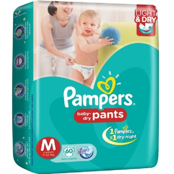 Pampers Diapers 60Pieces