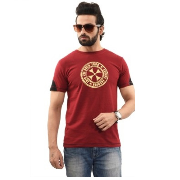 Printed Mens Round Neck TShirt