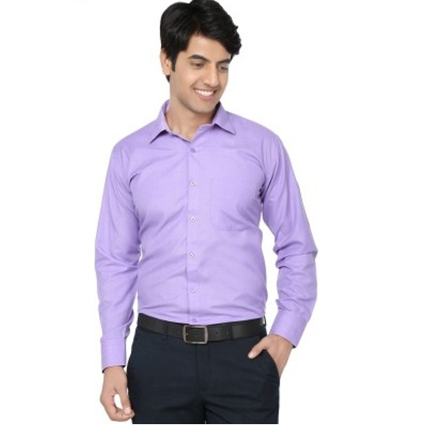 Spaky Mens Solid Formal Shirt