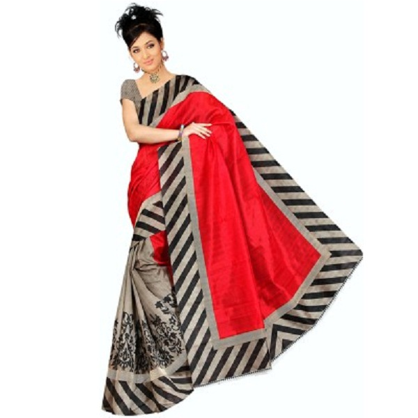 Gd Retails Printed Bollywood Banarasi Silk Sari