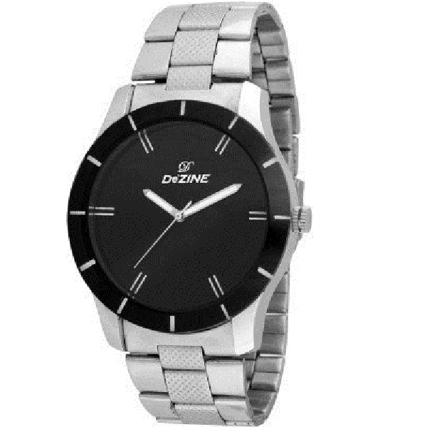 Dezine Analog Black Dial Mens Watch