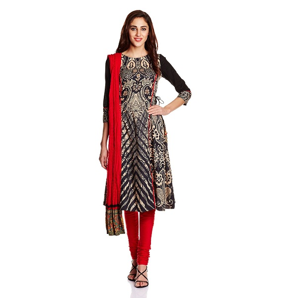 Rain and Rainbow Womens Anarkali Salwar Suit