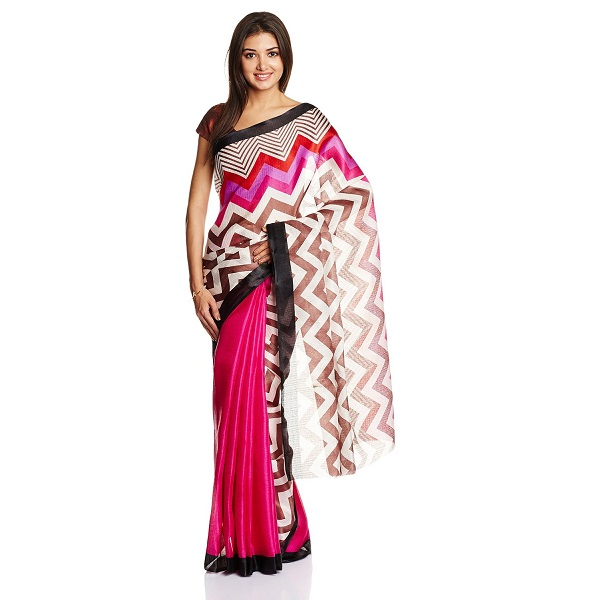 Boondh Saree with Blouse Piece