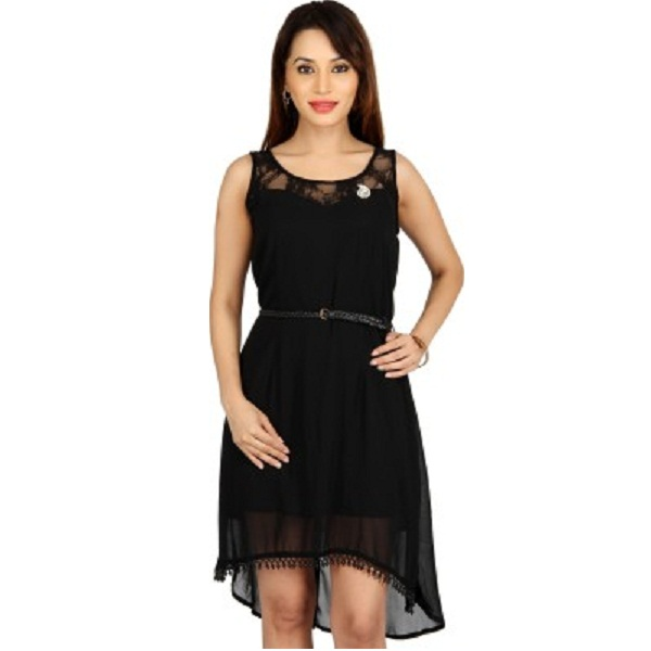 Bedazzle Womens High Low Dress