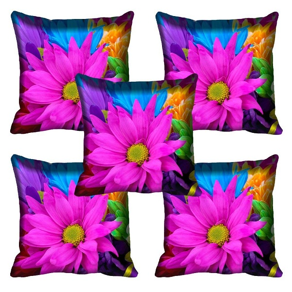 meSleep MultiFlower Cushion Covers Combo