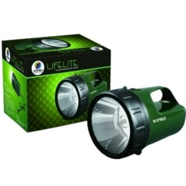 Wipro Lifelite LED Rechargeable Torch