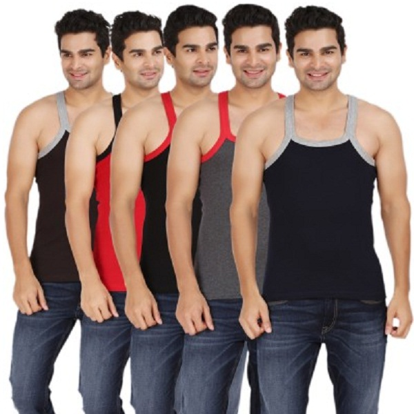 Wyatt Mens Vest Pack of 5