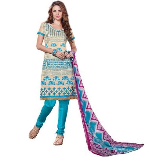 Jazz Creation Chanderi Embroidered Salwar Suit Dupatta Material