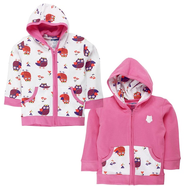 Snuggles Girls Hooded Full Sleeve Jackets Combo