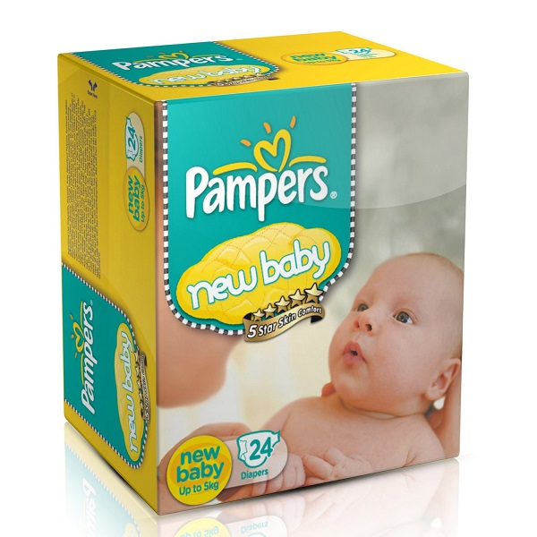 Pampers New Baby Diapers 24 Count