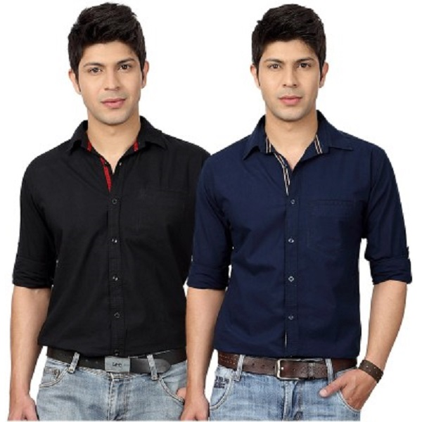 Top Notch Mens Solid Casual Shirts Combo