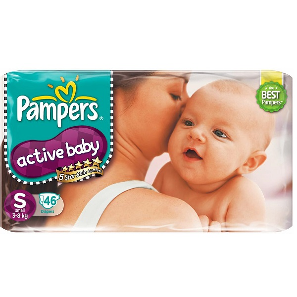 Pampers Active Baby Diapers Small 46 Pieces