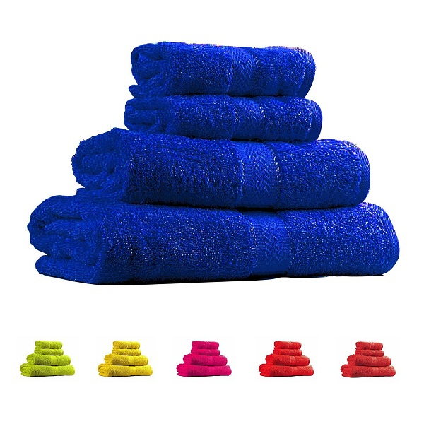 Trident Neon Blue 4 Pcs Couple Bath Towels Set