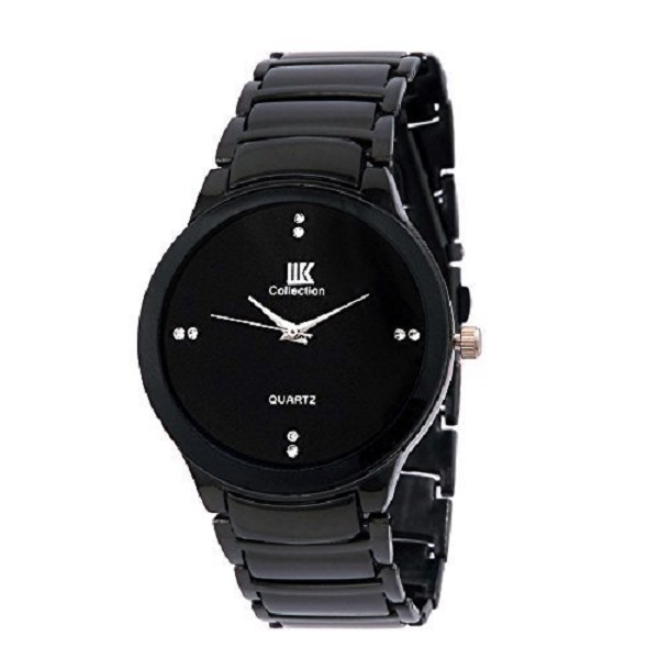 IIK COLLECTION Analog Black Round Dial Mens watch