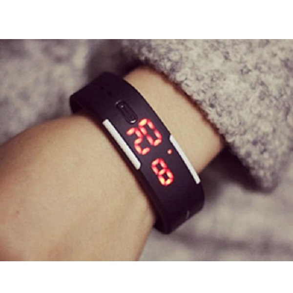 Ascension Fashion Sport Digital black dial led Unisex Watch