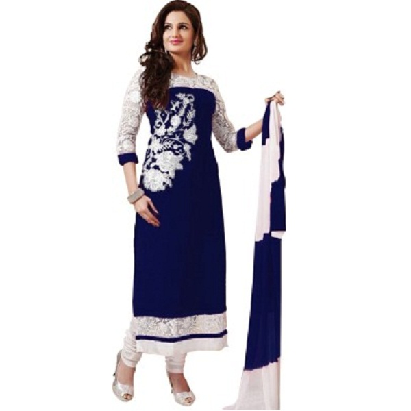 Tinu Enterprise Cotton Embroidered Semi stitched Salwar Suit Dupatta Material