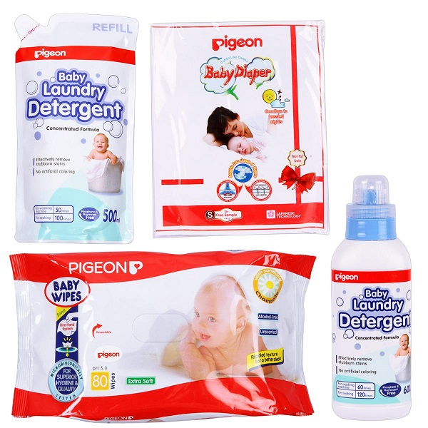 Pigeon Laundry Detergent Wipes Diaper Combo Pack