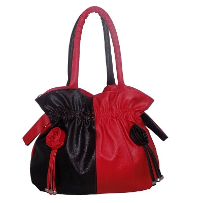 Vian Red and Black color Womens Handbags