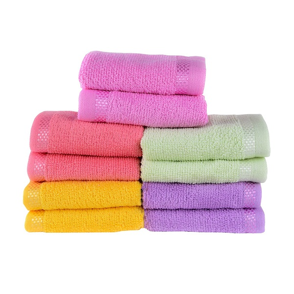 Towel Town Mines Set of 10 Face towels