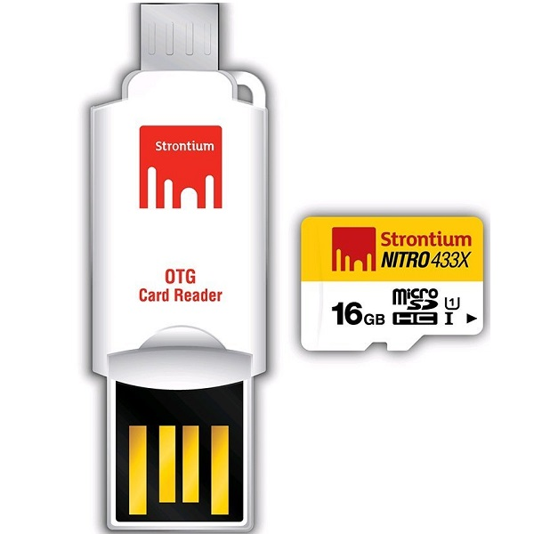 Strontium Nitro 16 GB microSDHC Memory Card With OTG Card Reader