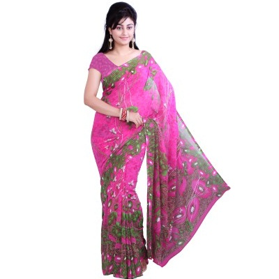 Ishin Printed Fashion Georgette Sari